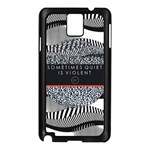 Sometimes Quiet Is Violent Twenty One Pilots The Meaning Of Blurryface Album Samsung Galaxy Note 3 N9005 Case (Black) Front