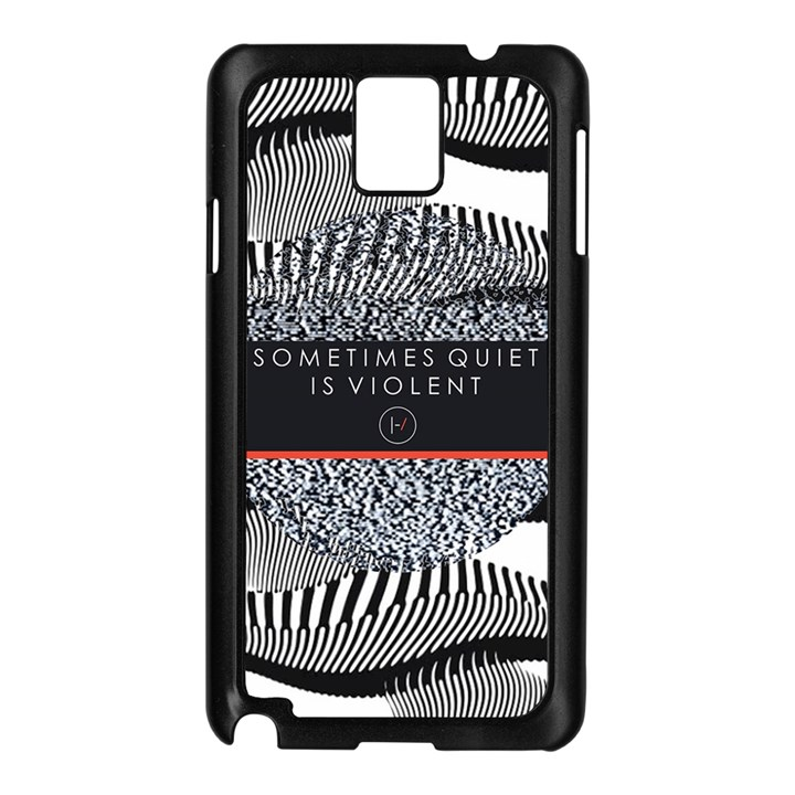 Sometimes Quiet Is Violent Twenty One Pilots The Meaning Of Blurryface Album Samsung Galaxy Note 3 N9005 Case (Black)