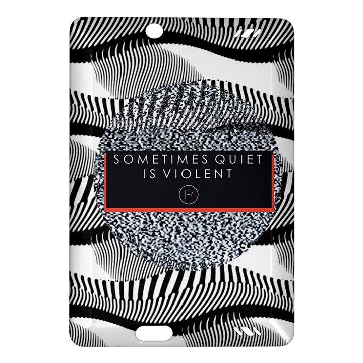 Sometimes Quiet Is Violent Twenty One Pilots The Meaning Of Blurryface Album Amazon Kindle Fire HD (2013) Hardshell Case