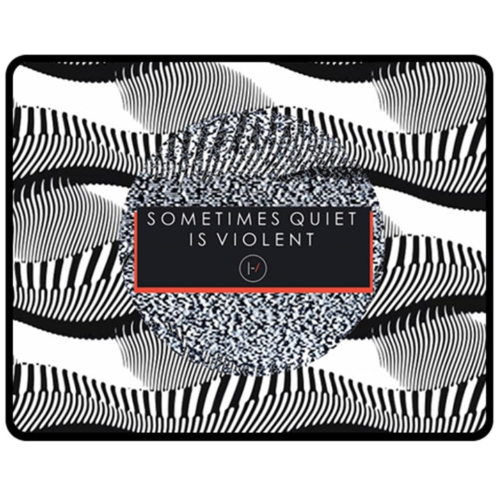 Sometimes Quiet Is Violent Twenty One Pilots The Meaning Of Blurryface Album Double Sided Fleece Blanket (Medium)