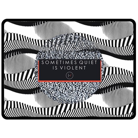 Sometimes Quiet Is Violent Twenty One Pilots The Meaning Of Blurryface Album Double Sided Fleece Blanket (Large)
