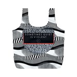 Sometimes Quiet Is Violent Twenty One Pilots The Meaning Of Blurryface Album Full Print Recycle Bags (M)  Back