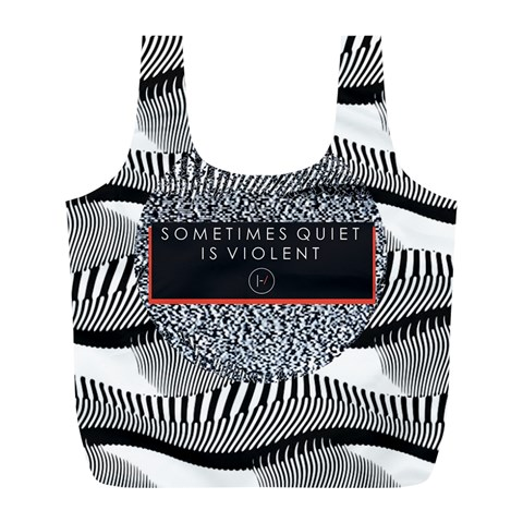Sometimes Quiet Is Violent Twenty One Pilots The Meaning Of Blurryface Album Full Print Recycle Bags (L)