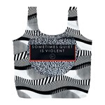 Sometimes Quiet Is Violent Twenty One Pilots The Meaning Of Blurryface Album Full Print Recycle Bags (L)  Front