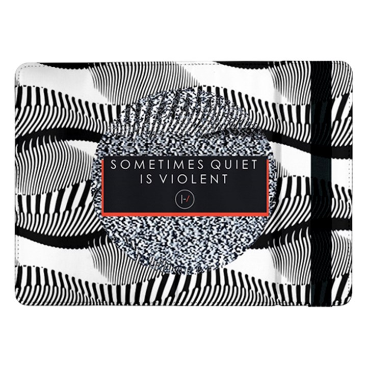 Sometimes Quiet Is Violent Twenty One Pilots The Meaning Of Blurryface Album Samsung Galaxy Tab Pro 12.2  Flip Case