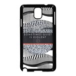 Sometimes Quiet Is Violent Twenty One Pilots The Meaning Of Blurryface Album Samsung Galaxy Note 3 Neo Hardshell Case (Black) Front