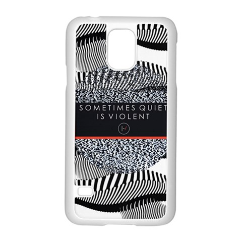 Sometimes Quiet Is Violent Twenty One Pilots The Meaning Of Blurryface Album Samsung Galaxy S5 Case (White)