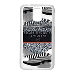Sometimes Quiet Is Violent Twenty One Pilots The Meaning Of Blurryface Album Samsung Galaxy S5 Case (White) Front