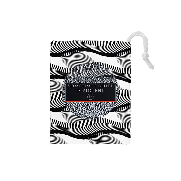 Sometimes Quiet Is Violent Twenty One Pilots The Meaning Of Blurryface Album Drawstring Pouches (Small)