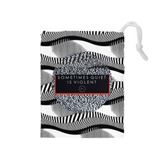 Sometimes Quiet Is Violent Twenty One Pilots The Meaning Of Blurryface Album Drawstring Pouches (Medium)