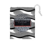 Sometimes Quiet Is Violent Twenty One Pilots The Meaning Of Blurryface Album Drawstring Pouches (Large)  Front