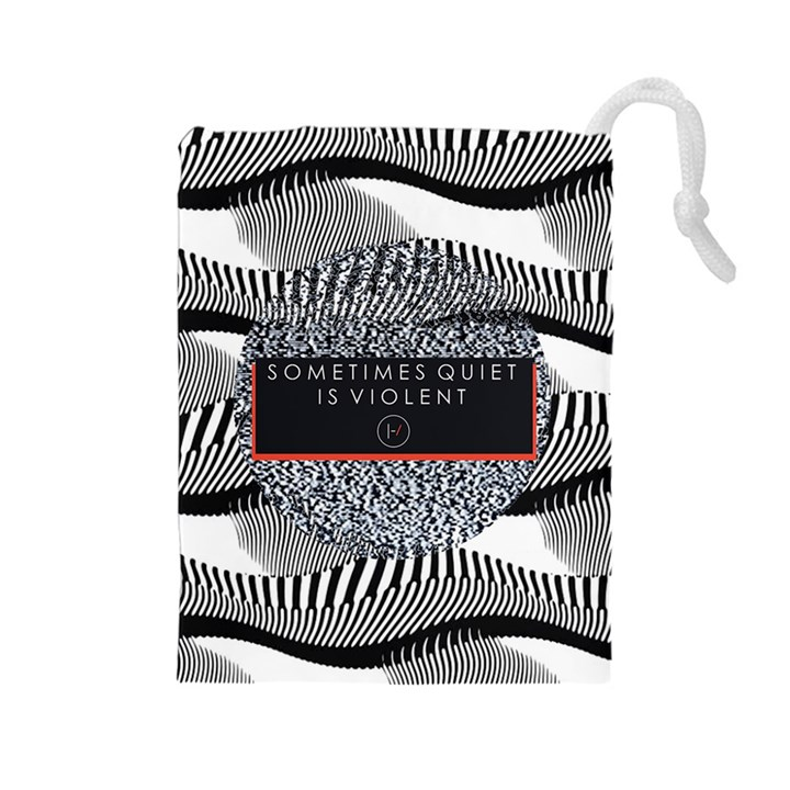 Sometimes Quiet Is Violent Twenty One Pilots The Meaning Of Blurryface Album Drawstring Pouches (Large)