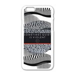 Sometimes Quiet Is Violent Twenty One Pilots The Meaning Of Blurryface Album Apple iPhone 6/6S White Enamel Case Front