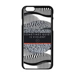 Sometimes Quiet Is Violent Twenty One Pilots The Meaning Of Blurryface Album Apple iPhone 6/6S Black Enamel Case Front