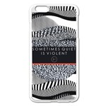 Sometimes Quiet Is Violent Twenty One Pilots The Meaning Of Blurryface Album Apple iPhone 6 Plus/6S Plus Enamel White Case Front