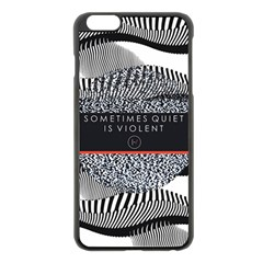 Sometimes Quiet Is Violent Twenty One Pilots The Meaning Of Blurryface Album Apple iPhone 6 Plus/6S Plus Black Enamel Case