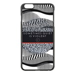 Sometimes Quiet Is Violent Twenty One Pilots The Meaning Of Blurryface Album Apple iPhone 6 Plus/6S Plus Black Enamel Case Front
