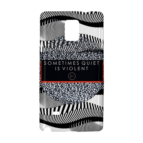 Sometimes Quiet Is Violent Twenty One Pilots The Meaning Of Blurryface Album Samsung Galaxy Note 4 Hardshell Case