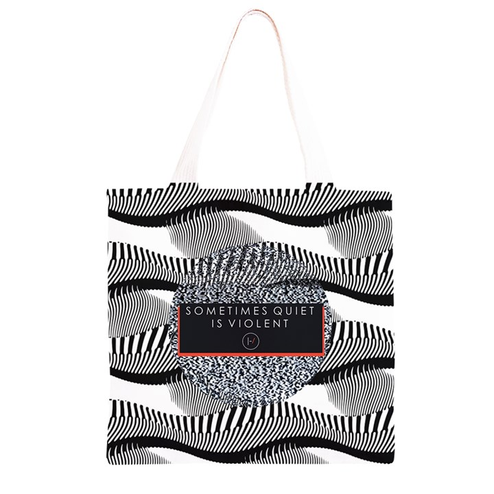 Sometimes Quiet Is Violent Twenty One Pilots The Meaning Of Blurryface Album Grocery Light Tote Bag