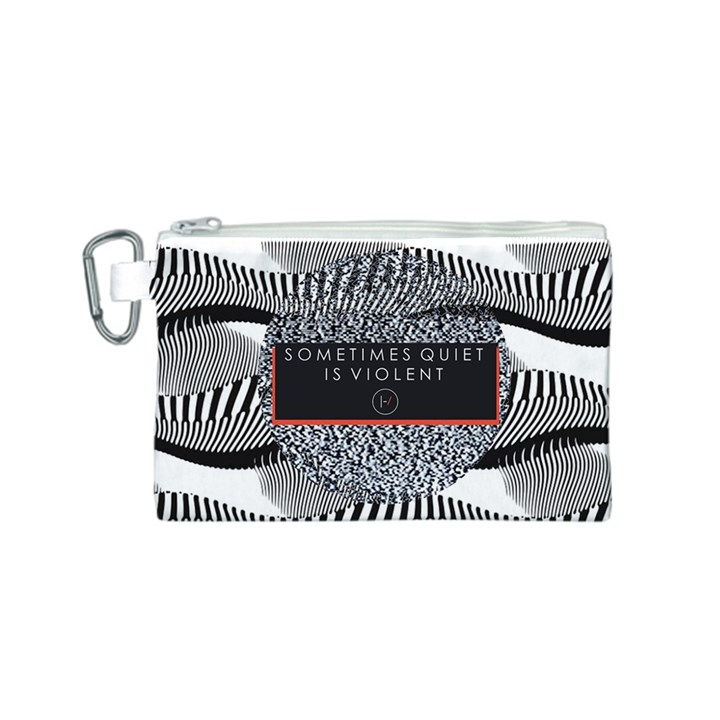 Sometimes Quiet Is Violent Twenty One Pilots The Meaning Of Blurryface Album Canvas Cosmetic Bag (S)
