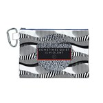 Sometimes Quiet Is Violent Twenty One Pilots The Meaning Of Blurryface Album Canvas Cosmetic Bag (M) Front