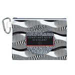 Sometimes Quiet Is Violent Twenty One Pilots The Meaning Of Blurryface Album Canvas Cosmetic Bag (L) Front