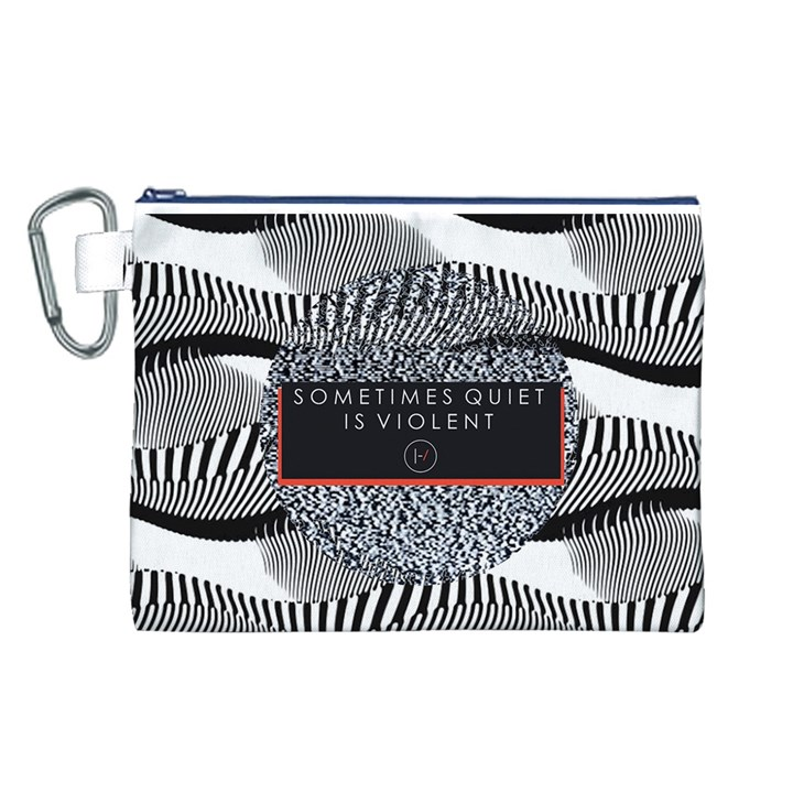 Sometimes Quiet Is Violent Twenty One Pilots The Meaning Of Blurryface Album Canvas Cosmetic Bag (L)