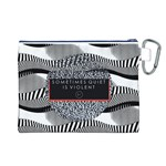 Sometimes Quiet Is Violent Twenty One Pilots The Meaning Of Blurryface Album Canvas Cosmetic Bag (L) Back
