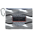 Sometimes Quiet Is Violent Twenty One Pilots The Meaning Of Blurryface Album Canvas Cosmetic Bag (XL) Front