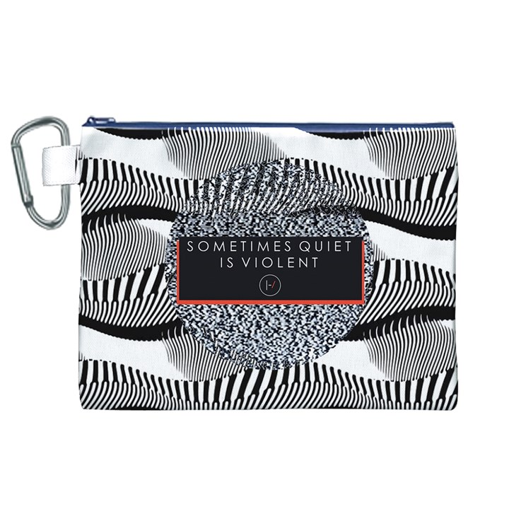 Sometimes Quiet Is Violent Twenty One Pilots The Meaning Of Blurryface Album Canvas Cosmetic Bag (XL)
