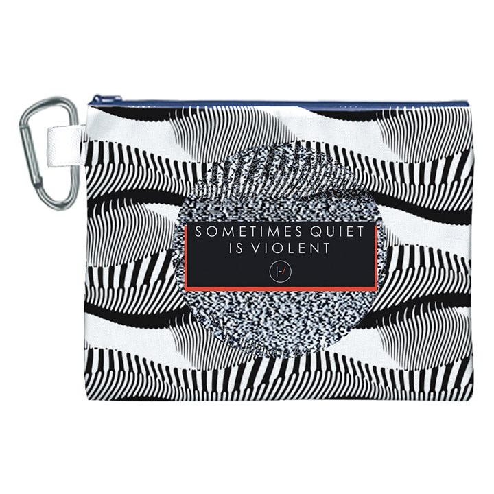 Sometimes Quiet Is Violent Twenty One Pilots The Meaning Of Blurryface Album Canvas Cosmetic Bag (XXL)