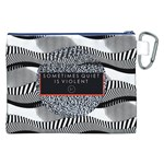 Sometimes Quiet Is Violent Twenty One Pilots The Meaning Of Blurryface Album Canvas Cosmetic Bag (XXL) Back