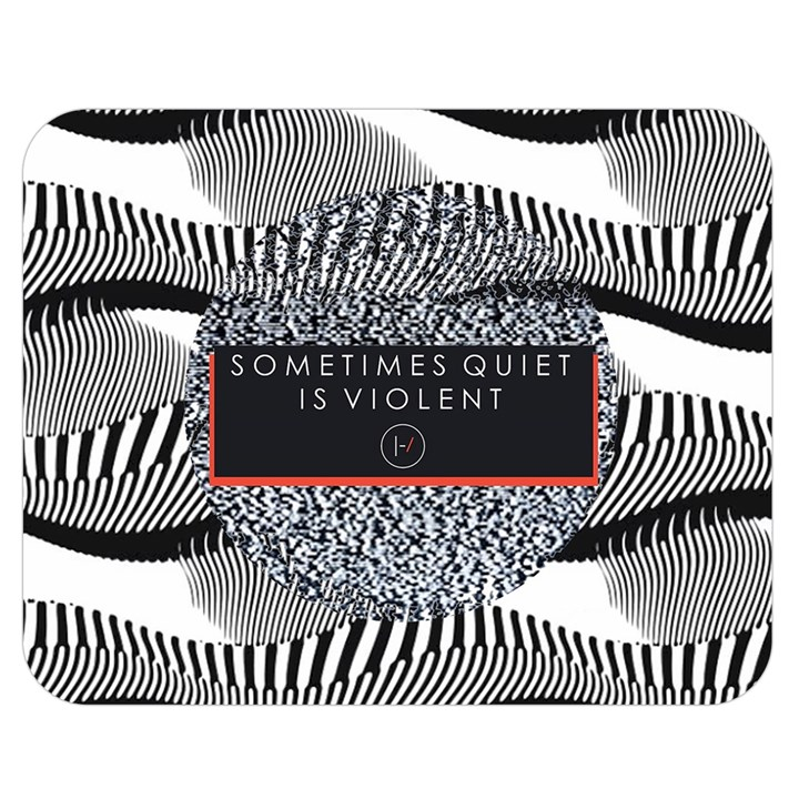 Sometimes Quiet Is Violent Twenty One Pilots The Meaning Of Blurryface Album Double Sided Flano Blanket (Medium)