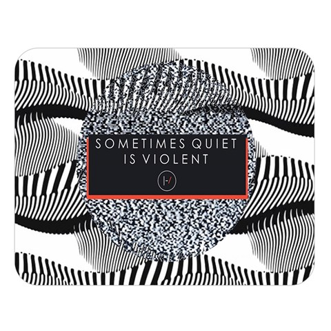 Sometimes Quiet Is Violent Twenty One Pilots The Meaning Of Blurryface Album Double Sided Flano Blanket (Large)