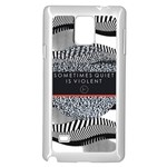 Sometimes Quiet Is Violent Twenty One Pilots The Meaning Of Blurryface Album Samsung Galaxy Note 4 Case (White) Front