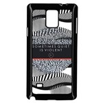 Sometimes Quiet Is Violent Twenty One Pilots The Meaning Of Blurryface Album Samsung Galaxy Note 4 Case (Black) Front