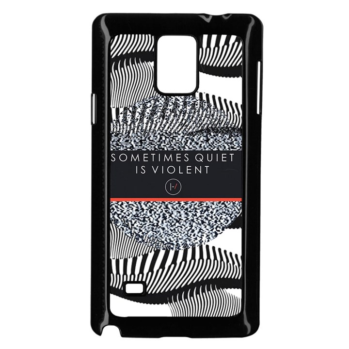Sometimes Quiet Is Violent Twenty One Pilots The Meaning Of Blurryface Album Samsung Galaxy Note 4 Case (Black)