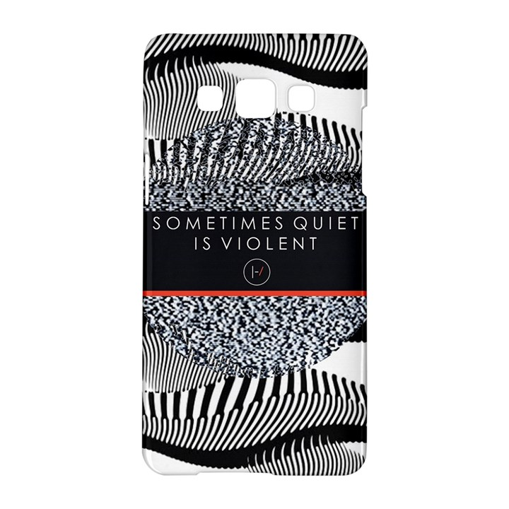 Sometimes Quiet Is Violent Twenty One Pilots The Meaning Of Blurryface Album Samsung Galaxy A5 Hardshell Case