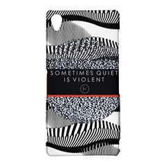 Sometimes Quiet Is Violent Twenty One Pilots The Meaning Of Blurryface Album Sony Xperia Z3