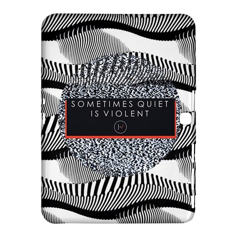 Sometimes Quiet Is Violent Twenty One Pilots The Meaning Of Blurryface Album Samsung Galaxy Tab 4 (10.1 ) Hardshell Case