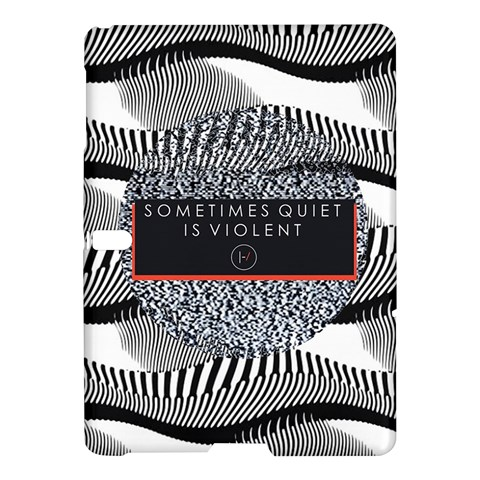 Sometimes Quiet Is Violent Twenty One Pilots The Meaning Of Blurryface Album Samsung Galaxy Tab S (10.5 ) Hardshell Case