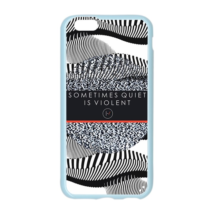 Sometimes Quiet Is Violent Twenty One Pilots The Meaning Of Blurryface Album Apple Seamless iPhone 6/6S Case (Color)