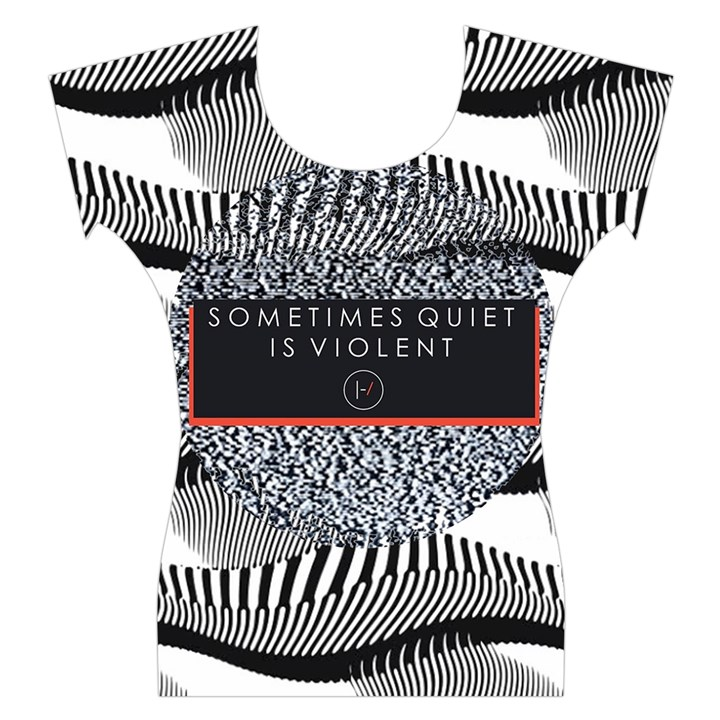 Sometimes Quiet Is Violent Twenty One Pilots The Meaning Of Blurryface Album Women s Cap Sleeve Top