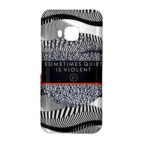 Sometimes Quiet Is Violent Twenty One Pilots The Meaning Of Blurryface Album HTC One M9 Hardshell Case