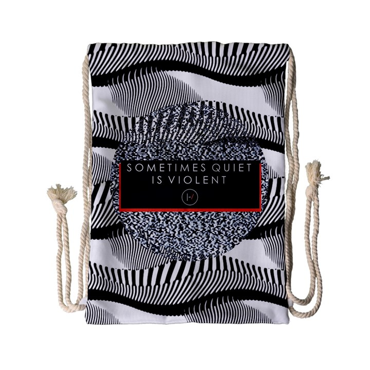 Sometimes Quiet Is Violent Twenty One Pilots The Meaning Of Blurryface Album Drawstring Bag (Small)