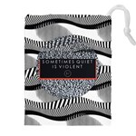 Sometimes Quiet Is Violent Twenty One Pilots The Meaning Of Blurryface Album Drawstring Pouches (XXL) Front