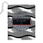Sometimes Quiet Is Violent Twenty One Pilots The Meaning Of Blurryface Album Drawstring Pouches (XXL) Back