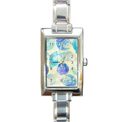 Seashells Rectangle Italian Charm Watch