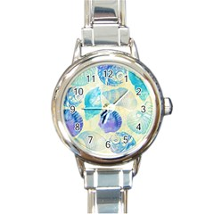 Seashells Round Italian Charm Watch