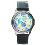 Seashells Round Metal Watch Front
